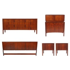 Swedish Mid-Century Modern King Size Bedroom Set by Edmond Spence in Walnut