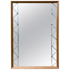 Swedish Mid-Century Modern Rectangular Wall Mirror, circa 1950