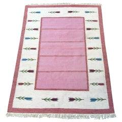 Swedish Mid-Century Modern Rölakan Handwoven Wool Carpet