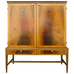Swedish Mid-Century Modern Storage Cabinet in Mahogany and Beech, circa 1950