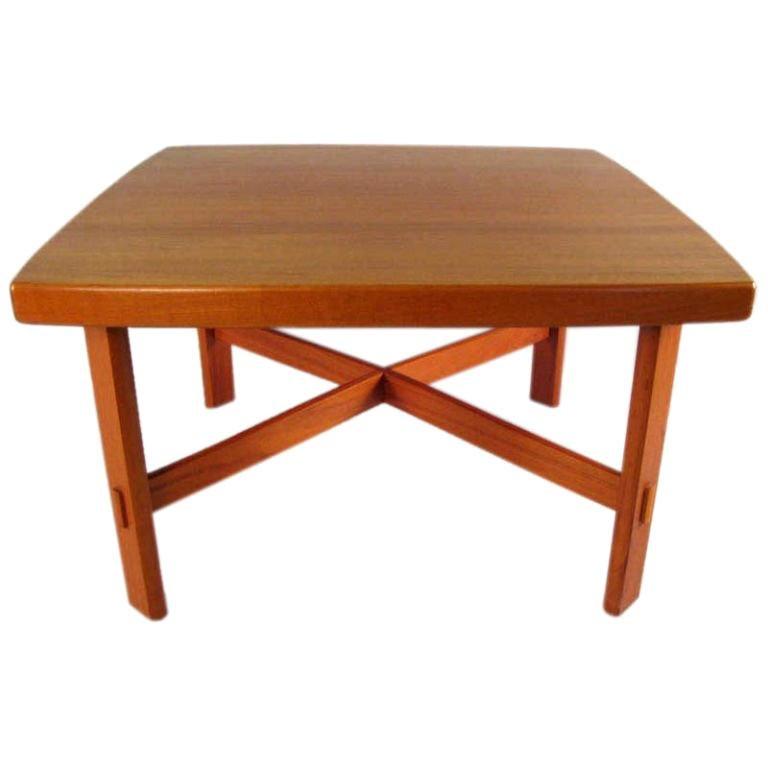 Swedish Mid-Century Modern Teak Coffee Table by Alberts Tibro