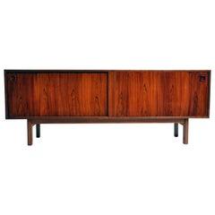 Swedish Mid-Century Modern Walnut Veneer Sideboard