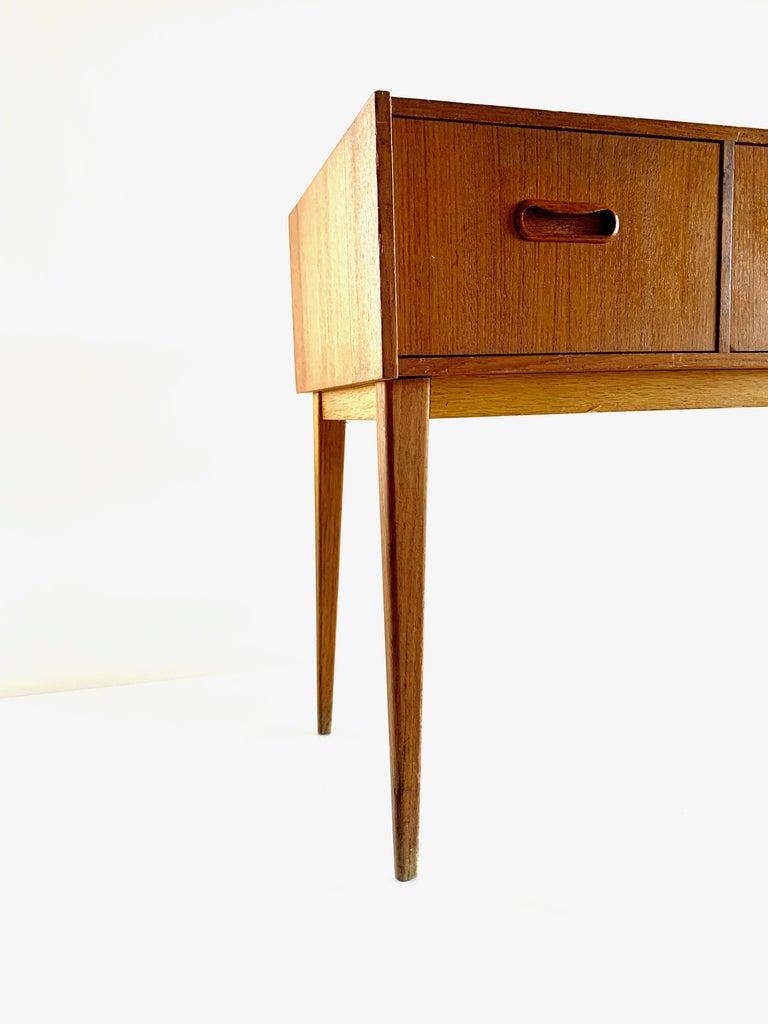 Swedish Midcentury Teak Chest of Drawers, 1960s In Good Condition For Sale In Copenhagen, DK