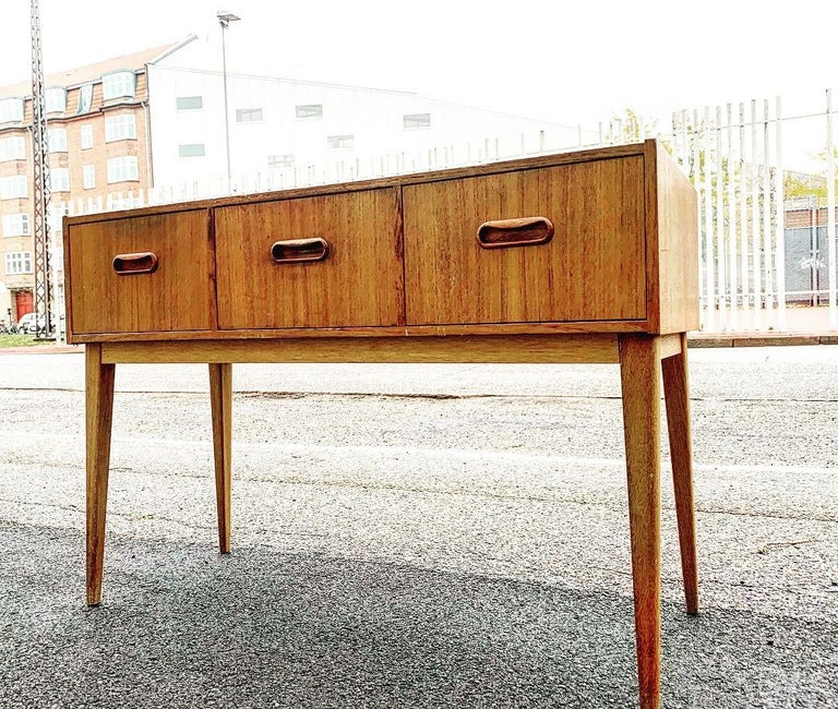 Swedish Midcentury Teak Chest of Drawers, 1960s For Sale 1
