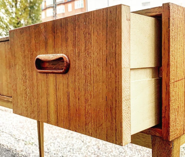 Swedish Midcentury Teak Chest of Drawers, 1960s For Sale 2