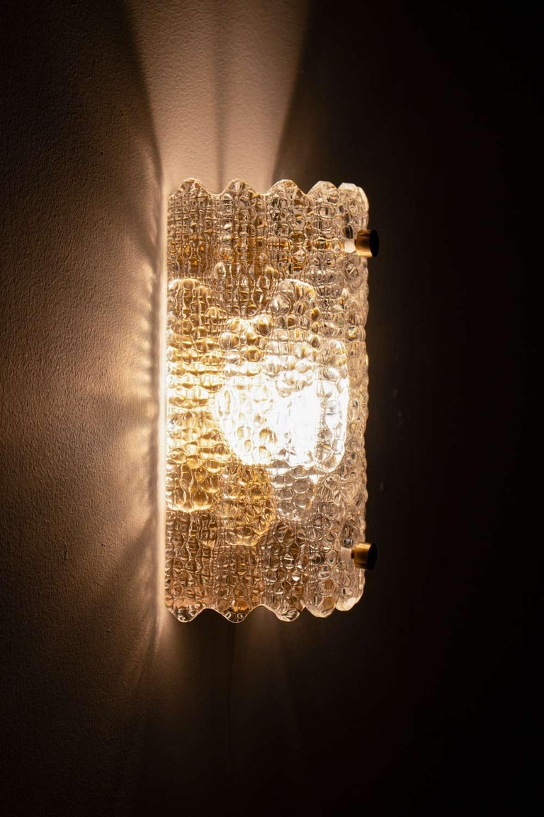 20th Century Swedish Midcentury Wall Lamps / Sconces by Carl Fagerlund for Orrefors For Sale