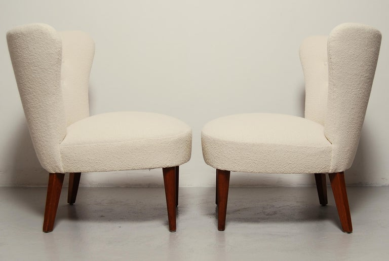 Mid-20th Century Swedish Midcentury Boucle Lounge Chairs For Sale
