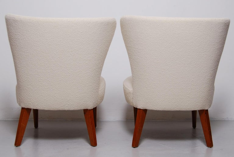 Swedish Midcentury Boucle Lounge Chairs For Sale 1