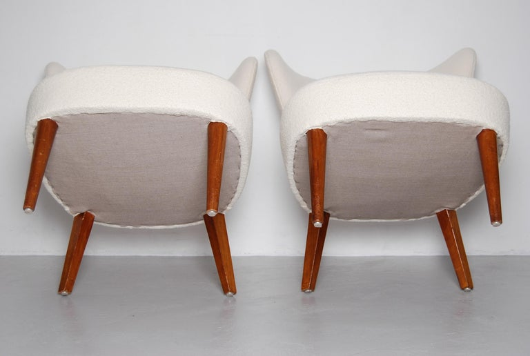 Swedish Midcentury Boucle Lounge Chairs For Sale 2