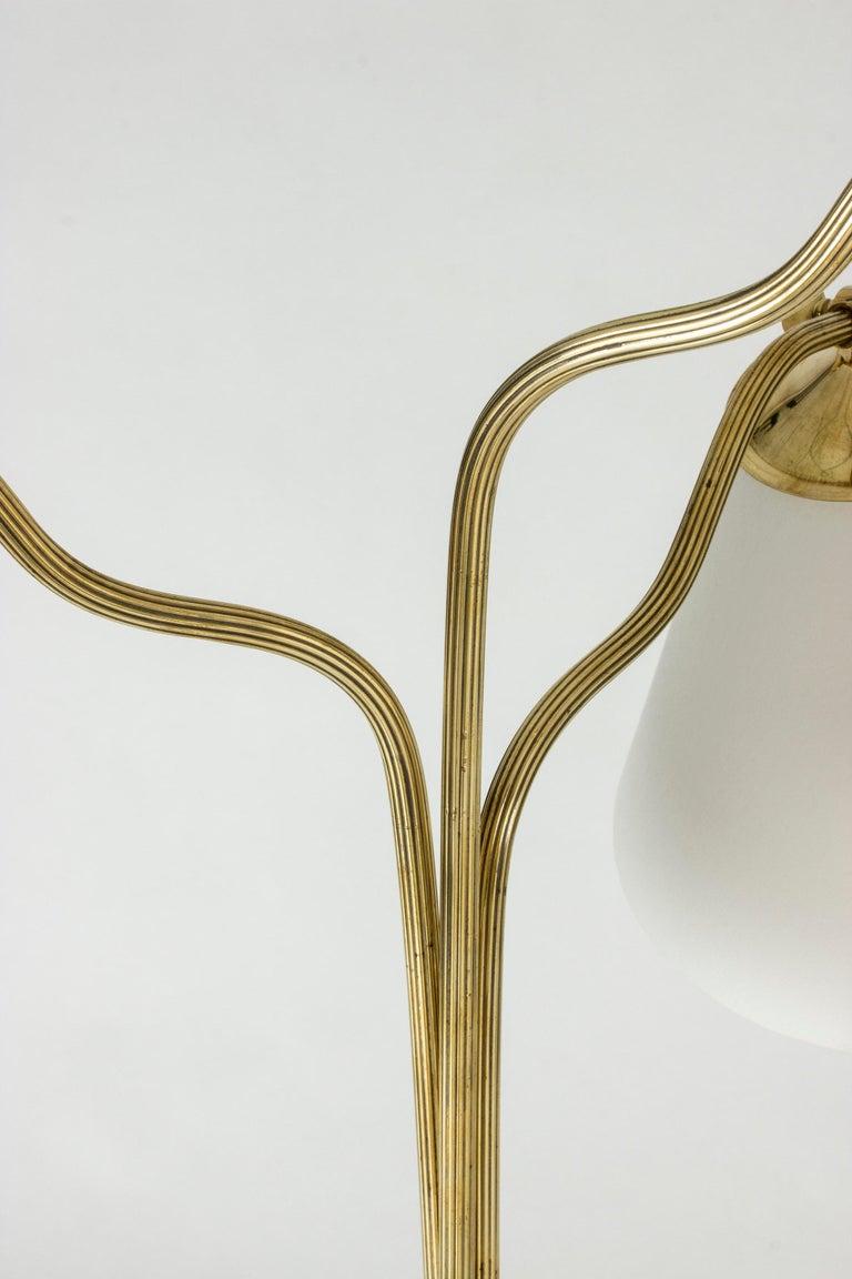 Swedish Midcentury Brass Floor Lamp, 1940s For Sale 5