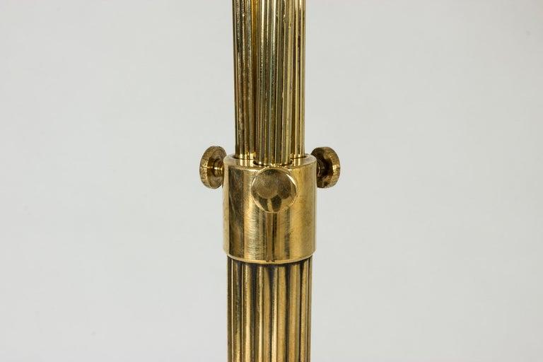 Swedish Midcentury Brass Floor Lamp, 1940s For Sale 3
