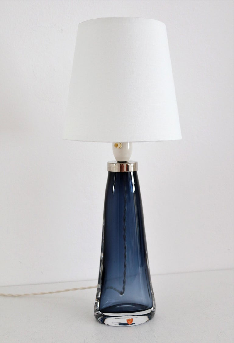 Swedish Midcentury Crystal Table Lamp by Carl Fagerlund for Orrefors, 1960s For Sale 5