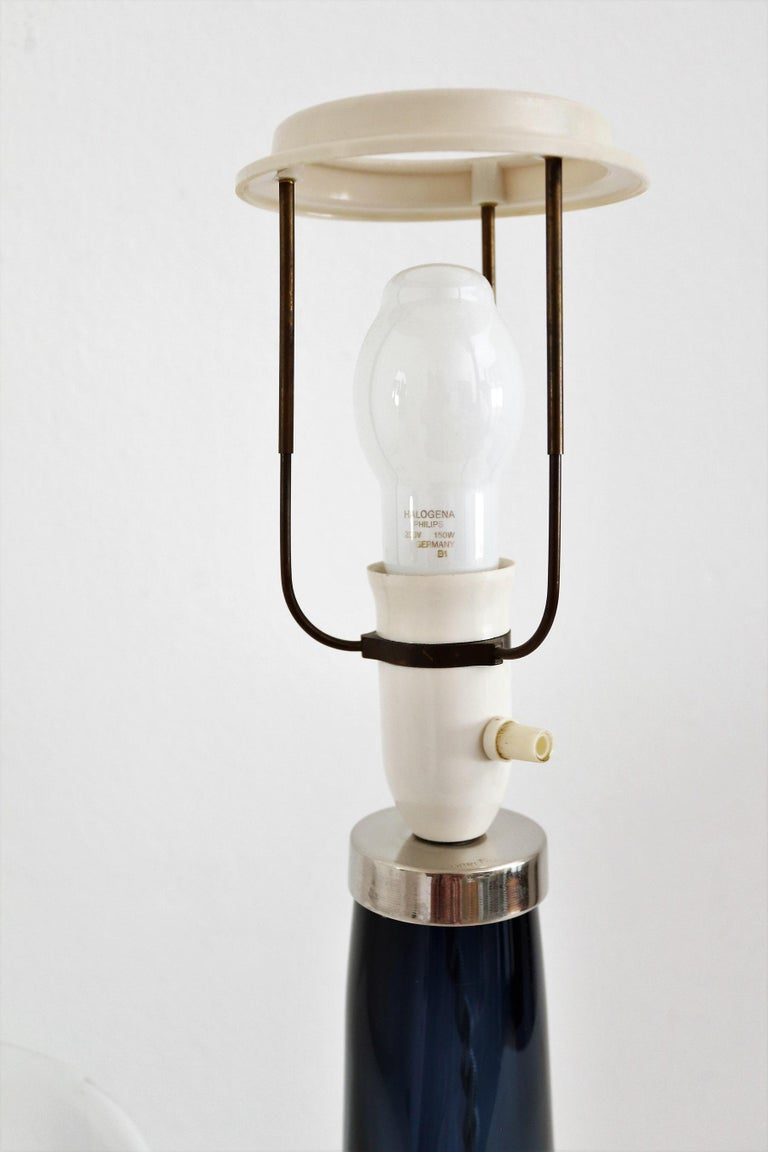 Swedish Midcentury Crystal Table Lamp by Carl Fagerlund for Orrefors, 1960s For Sale 8
