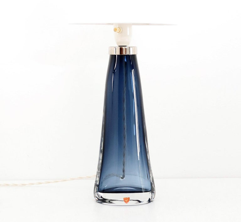 Mid-Century Modern Swedish Midcentury Crystal Table Lamp by Carl Fagerlund for Orrefors, 1960s For Sale
