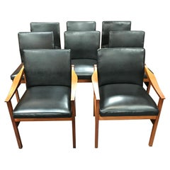 Swedish Midcentury Dining Chairs in Teak by Nils Jonsson for Troeds, Set of 8