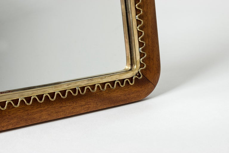 Mid-20th Century Swedish Midcentury Mahogany Table Mirror