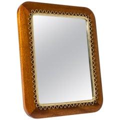 Swedish Midcentury Mahogany Table Mirror