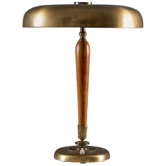 Swedish Midcentury Table Lamp in Brass