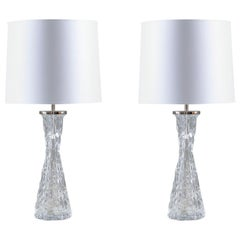 Swedish Midcentury Table Lamps by Carl Fagerlund for Orrefors