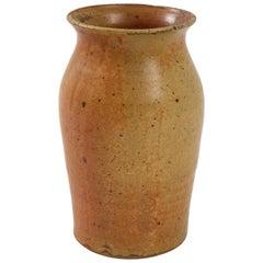 Swedish Midcentury Tawny Ocher Vase, circa 1950
