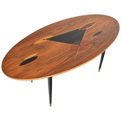 Swedish Modern Atomic Inlay Coffee Table