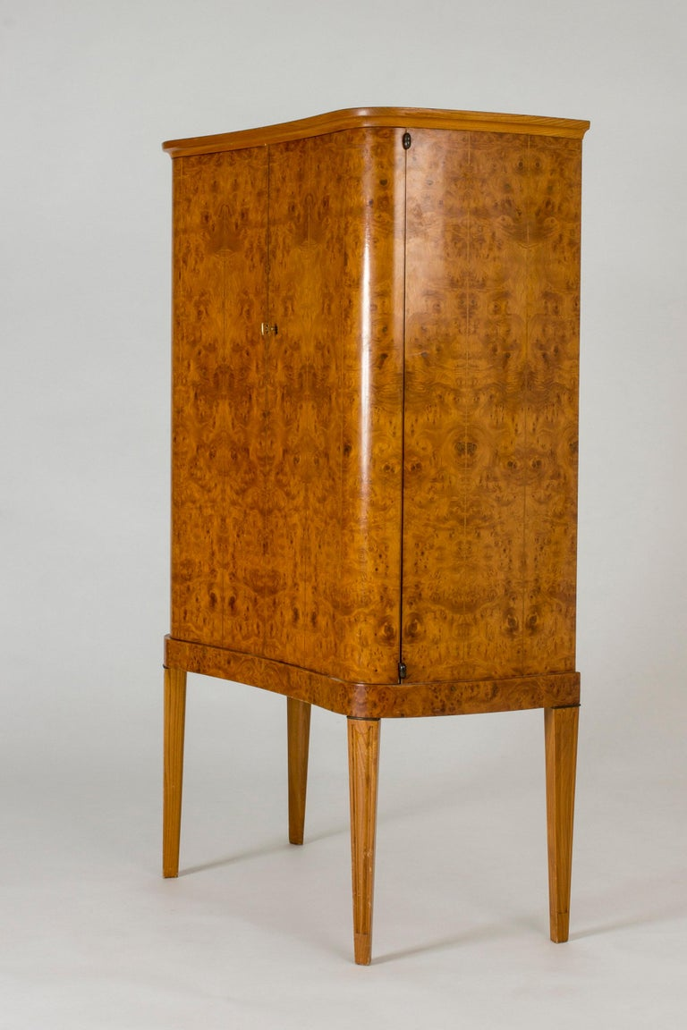 Scandinavian Modern Swedish Modern Birch Root Cabinet For Sale