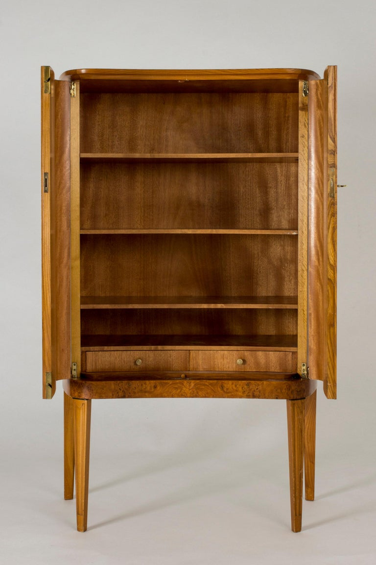 Swedish Modern Birch Root Cabinet In Good Condition For Sale In Stockholm, SE