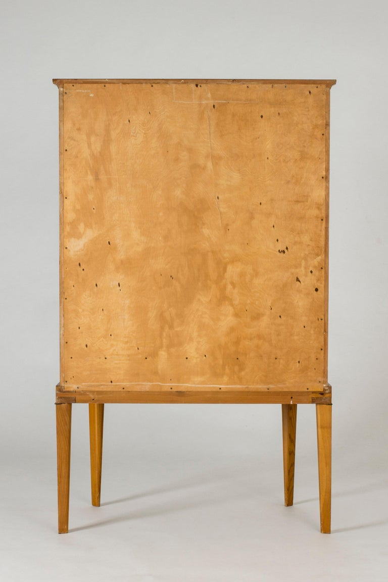 Mid-20th Century Swedish Modern Birch Root Cabinet For Sale