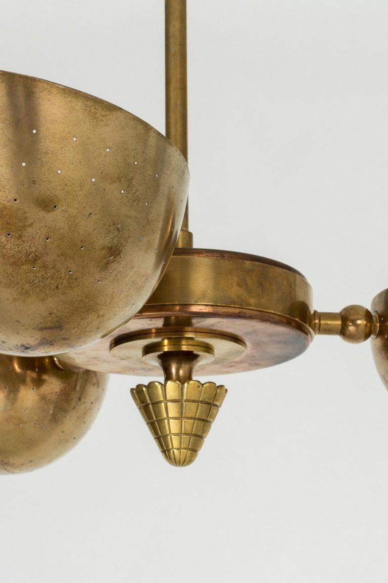 Swedish Modern Brass Ceiling Light For Sale 5