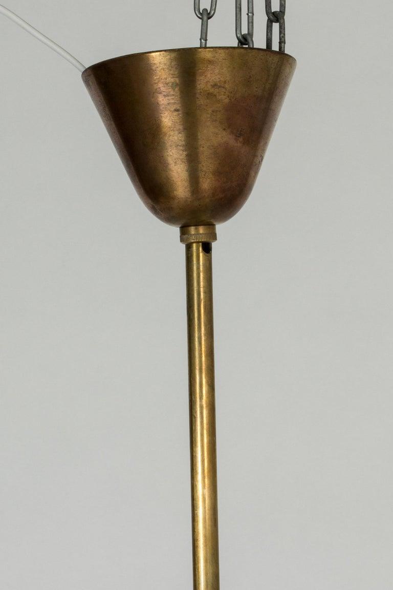 Swedish Modern Brass Ceiling Light For Sale 6