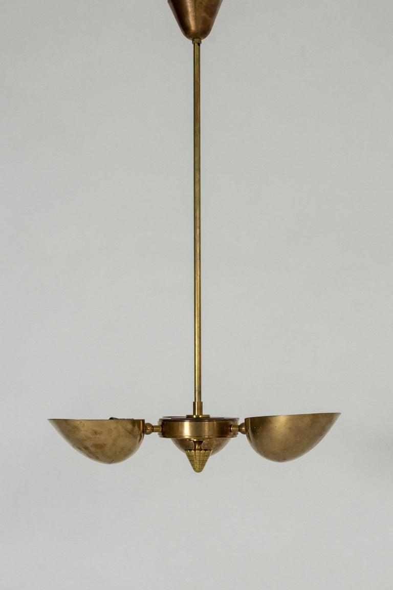 Scandinavian Modern Swedish Modern Brass Ceiling Light For Sale