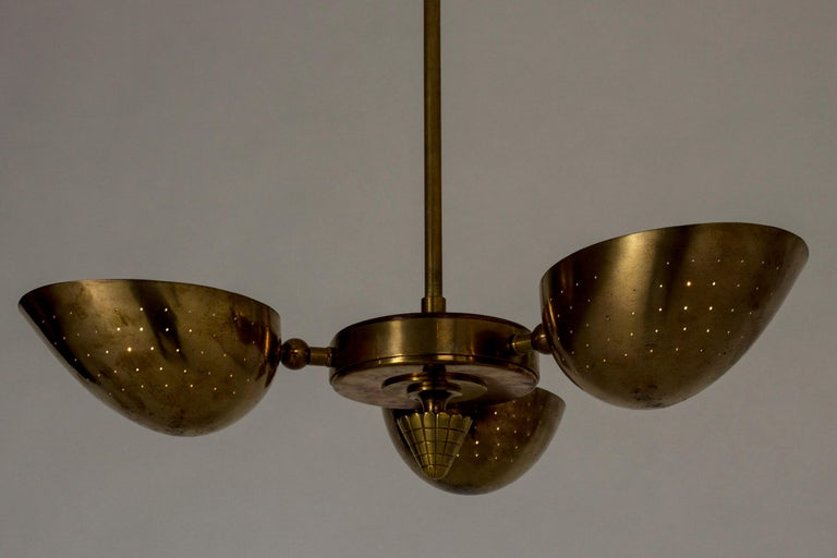 Swedish Modern Brass Ceiling Light For Sale 1