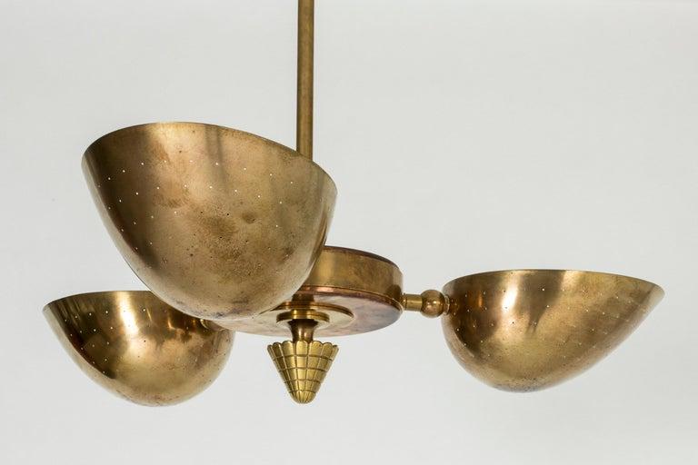 Swedish Modern Brass Ceiling Light For Sale 2