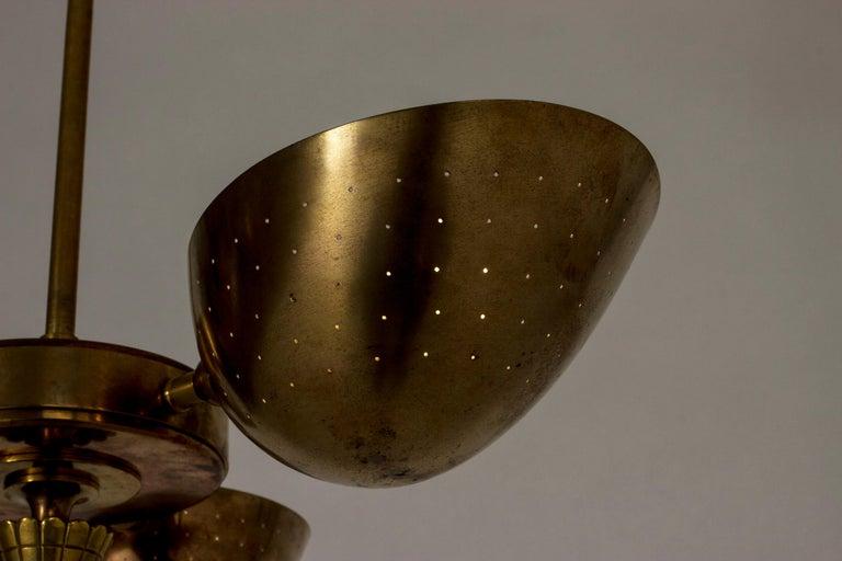 Swedish Modern Brass Ceiling Light For Sale 4