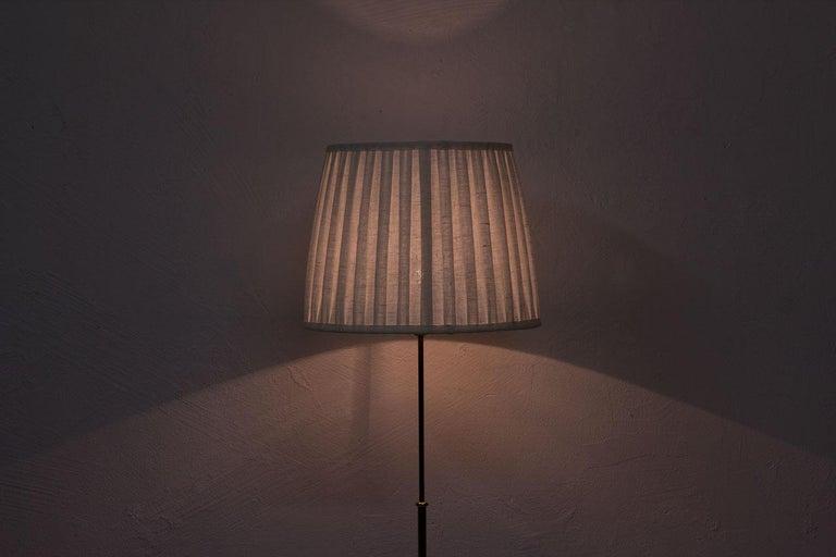 Swedish Modern Brass Floor Lamp by Böhlmarks, 1940s For Sale 6