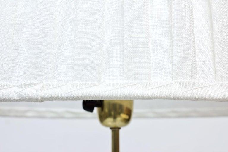 Swedish Modern Brass Floor Lamp by Böhlmarks, 1940s For Sale 1