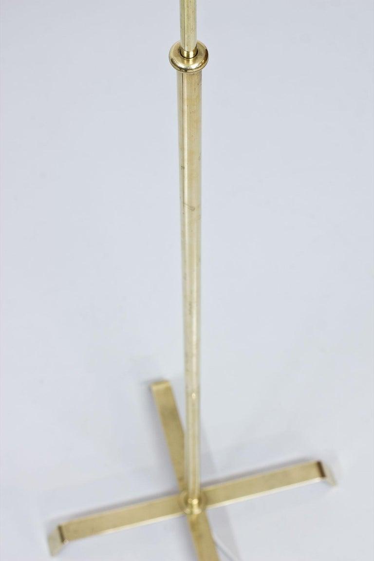 Swedish Modern Brass Floor Lamp by Böhlmarks, 1940s For Sale 2