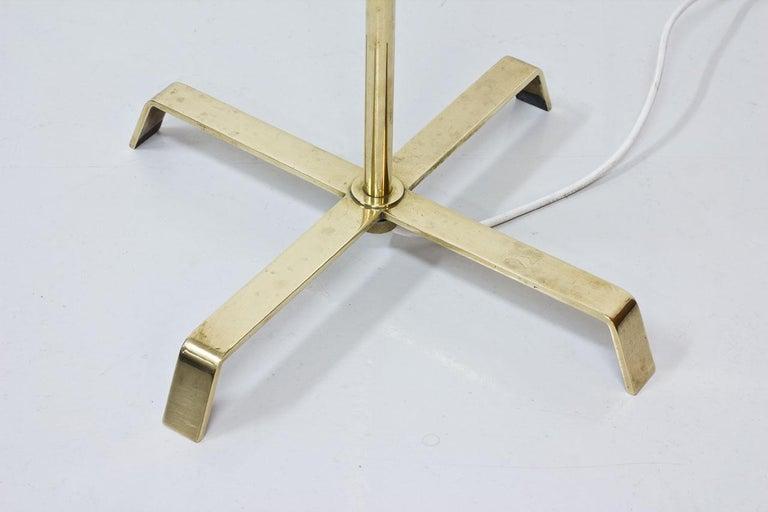 Swedish Modern Brass Floor Lamp by Böhlmarks, 1940s For Sale 3