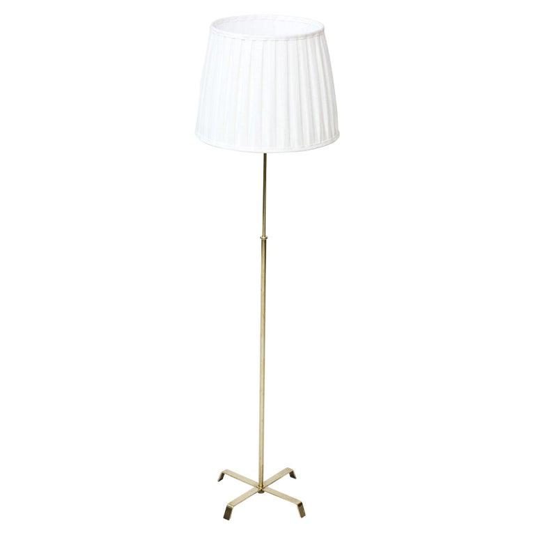 Swedish Modern Brass Floor Lamp by Böhlmarks, 1940s For Sale