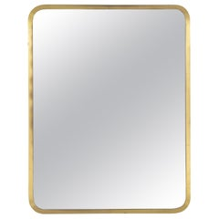 Swedish Modern, Brass Mirror by 'NK' Nordiska Kompaniet, Sweden, 1940s-1950s