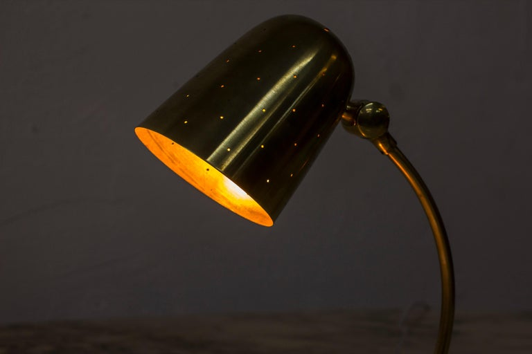 Swedish Modern Brass Table Lamp by Boréns, 1940s-1950s For Sale 5