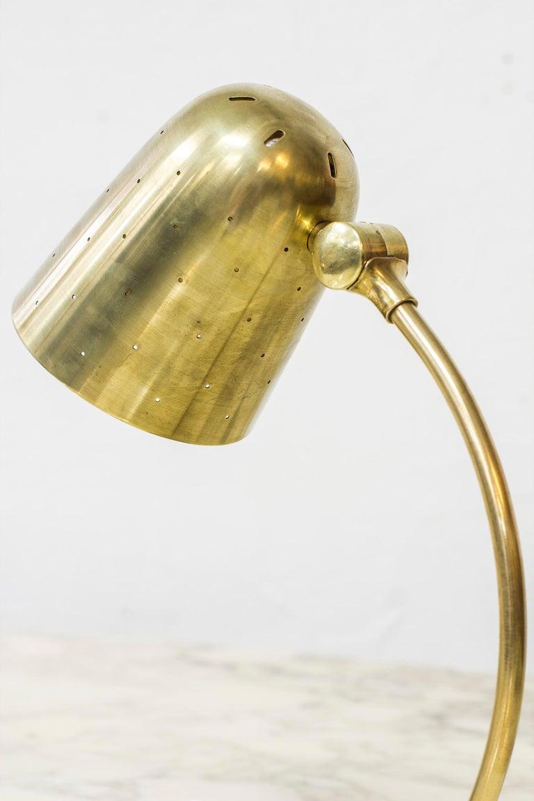 Scandinavian Modern Swedish Modern Brass Table Lamp by Boréns, 1940s-1950s For Sale