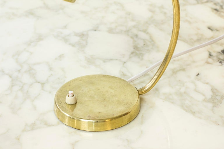 Swedish Modern Brass Table Lamp by Boréns, 1940s-1950s For Sale 1