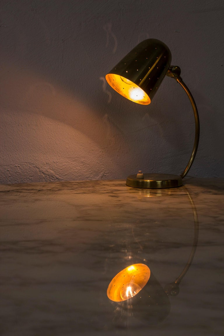 Swedish Modern Brass Table Lamp by Boréns, 1940s-1950s For Sale 3