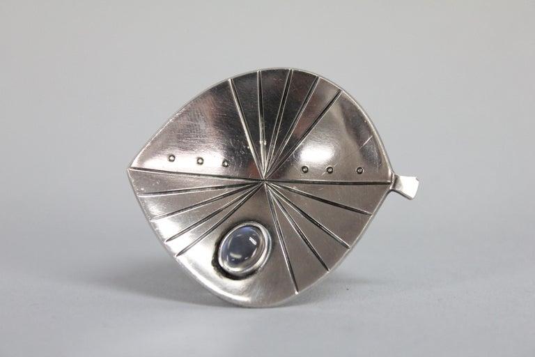 Swedish Modern Brooch by Stigbert in Sterling Silver For Sale 5