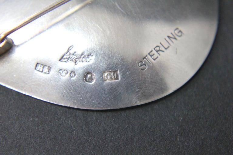Swedish Modern Brooch by Stigbert in Sterling Silver For Sale 2
