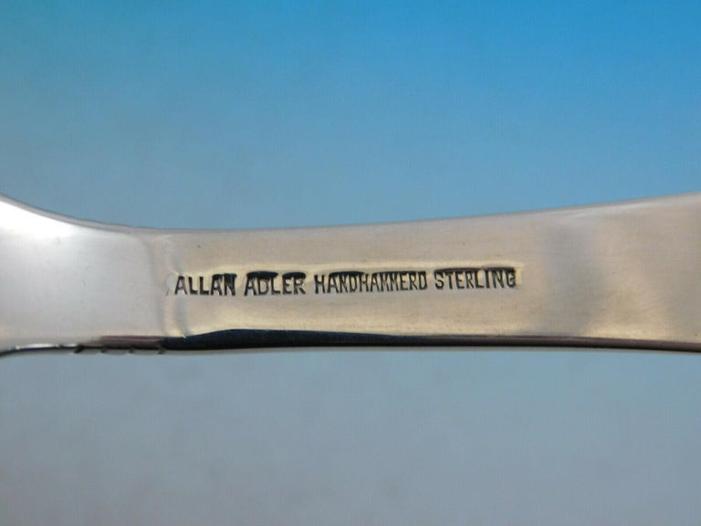 20th Century Swedish Modern by Allan Adler Sterling Silver Flatware Set Heavily Hammered 73pc