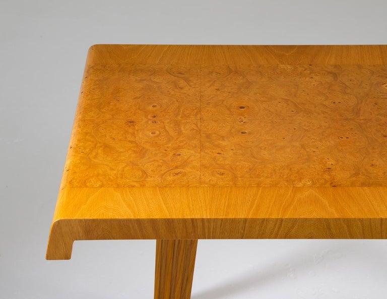 Elm Swedish Modern Coffee Table, 1940s For Sale