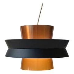 Swedish Modern Copper Pendant Light by Carl Thore for Granhaga, 1960s