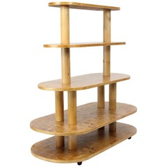 Swedish Modern Display Shelf or Étagère in Golden Birch, 1920s-1930s